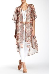 Daniel Rainn Print Duster Brown