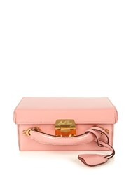 Mark Cross Grace Small Leather Box Bag Light Pink