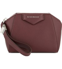 Givenchy Antigona Soft Grained Leather Cosmetic Case Oxblood