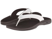 Olukai Ohana W White Dark Java Women's Sandals