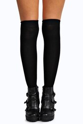 Boohoo Knee High Socks Black