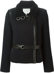 Iro Belted High Collar Jacket Black