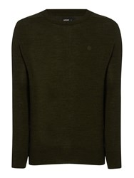 Army And Navy Hamilton Merino Crew Neck Jumper Forest