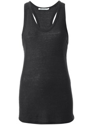 T By Alexander Wang Racerback Tank Top Grey