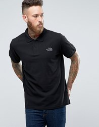 The North Face Polo Shirt With Tnf Logo In Black Black