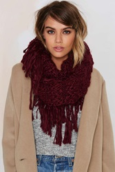 Nasty Gal Fringe With Benefits Infinity Scarf
