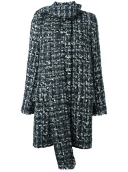 Dolce And Gabbana Boucle Coat Grey
