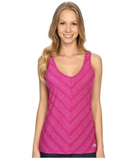 The North Face Striped Breezeback Tank Top Fuchsia Pink Women's Sleeveless