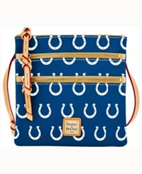 Dooney And Bourke Indianapolis Colts Triple Zip Crossbody Bag Blue