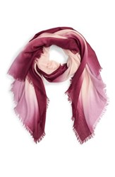 Nordstrom Women's Dip Dye Cashmere And Silk Scarf Pink Combo