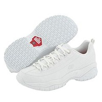 Skechers Softie White Smooth Leather Women's Industrial Shoes