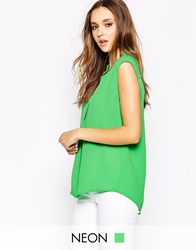 Y.A.S Botanic Plain Sleeveless Shirt Irishgreen