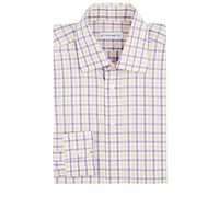 Etro Plaid Dress Shirt Purple