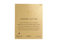 Dogeared Good Luck Elephant Reminder Necklace Gold Dipped Necklace