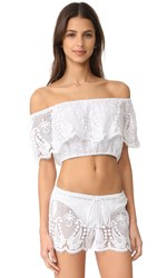 Miguelina Dakota Mirage Top Pure White