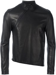 Ann Demeulemeester Slim Fit High Neck Jacket Black