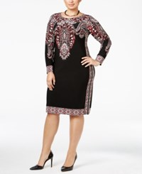 Inc International Concepts Plus Size Paisley Print Sheath Dress Only At Macy's Deep Black