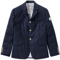 Moncler Gamme Bleu 3 Button Down Blazer Blue