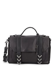 Mackage Monet Leather Satchel Bag Black