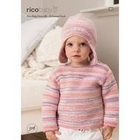 Rico Baby Dream A Luxury Touch Dk Jumper And Hat Knitting Pattern 516