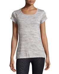 The Balance Collection Firefly High Low Split Back Tee Heather White