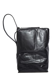 Rick Owens Large Leather Bucket Bag Black