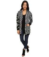 Billabong Shoreline Drive Cardigan Black White Women's Sweater