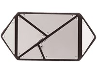 Vince Camuto Cleo Clutch 1 Silver Black Clutch Handbags Gray
