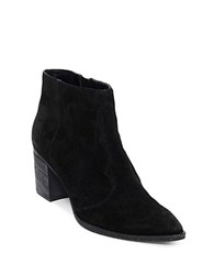 Dolce Vita Lennon Suede Ankle Booties Black