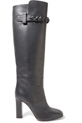 Valentino Leather Boots Storm Blue