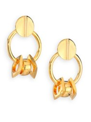 Lizzie Fortunato Tortola Retro Link Drop Earrings Gold