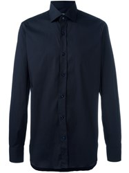 Barba Classic Long Sleeve Shirt Blue