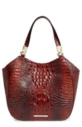 Brahmin Melbourne Marianna Leather Tote Brown Pecan