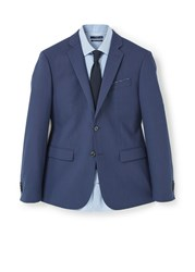 Mango Slim Fit Patterned Suit Blazer Navy