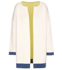 81 Hours Layla Open Front Wool Cardigan White