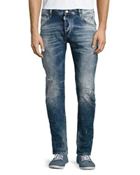 Antony Morato Krop Loose Tapered Jeans Blue Denim