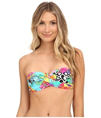 Trina Turk Balboa Twist Bandeau Top Multi Women's Swimwear
