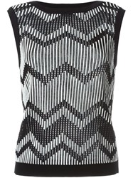M Missoni Ribbed Tank Top Black