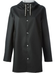 Stutterheim Hooded Raincoat Black