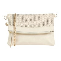 Oasis Cut Out Clutch Bag Off White