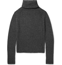 Isabel Benenato Merino Wool Blend Rollneck Sweater Gray