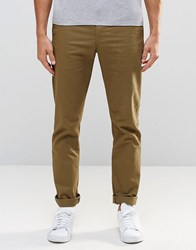 Weekday Wood Slim Chinos 19 105 Khaki Green