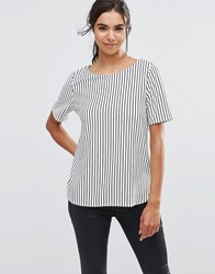 Minimum Justina Stripe Top 2146826246 White