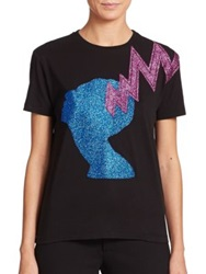 Christopher Kane Glitter Applique Tee Multi