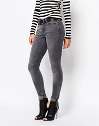 Vero Moda Gray Washed Skinny Jean Gray
