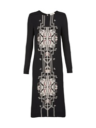 Day Birger Et Mikkelsen Porico Art Deco Print Dress Black Black