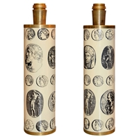 Pair Of 1970S Fornasetti Cameo Lamps At 1Stdibs