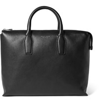 Hugo Boss Grained Leather Briefcase Black