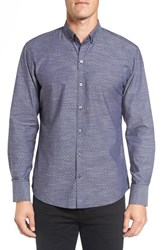 Zachary Prell Men's 'Kayhan' Regular Fit Jacquard Sport Shirt