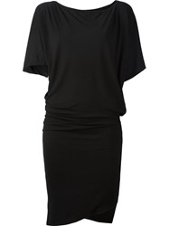 Vivienne Westwood Anglomania Batwing Sleeve Fitted Dress Black